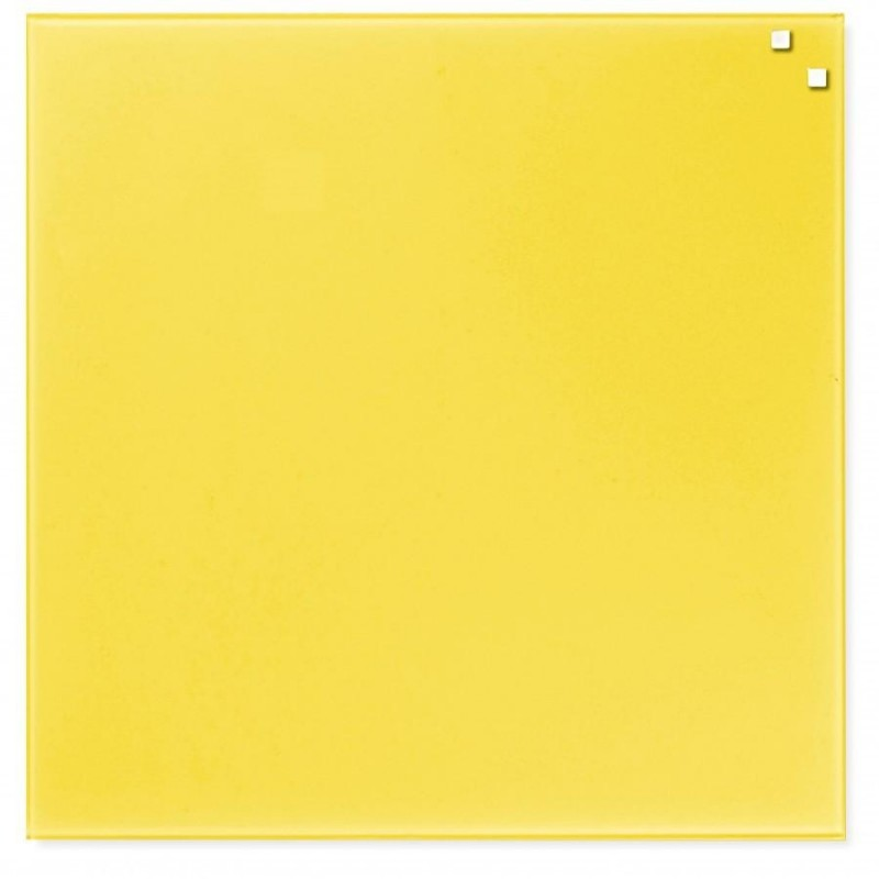 Bright yellow poster board