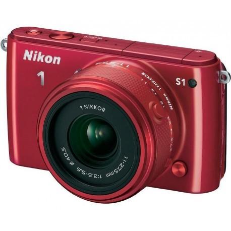 Nikon 1 S1 + 11-27,5mm Kit, punane