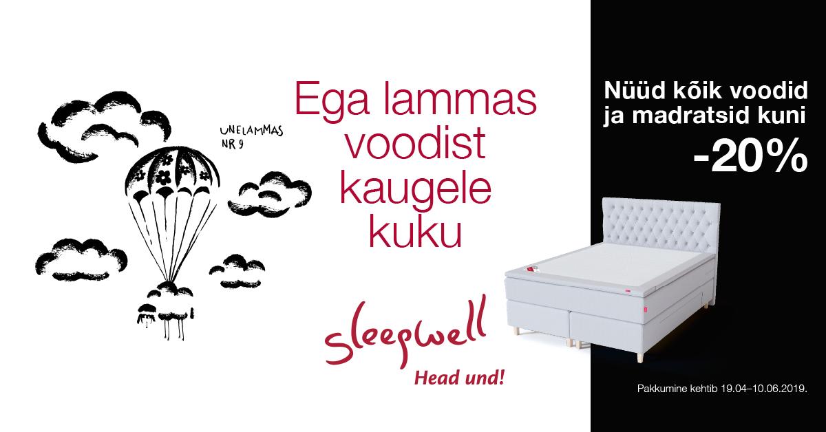Kõik Sleepwell voodid ja madratasid on kuni -20%