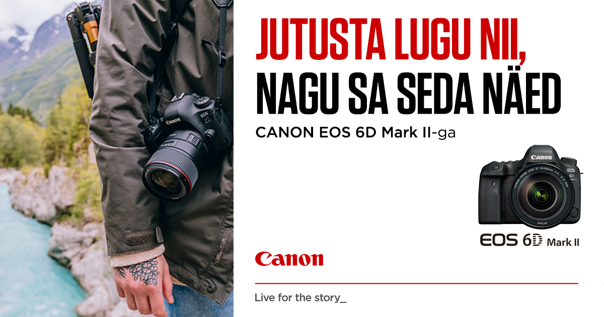 Canon EOS 6D Mark II täiskaader on lausa 50% soodsam