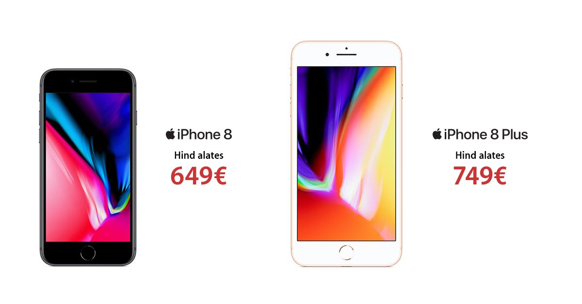 Apple iPhone 8 nutitelefonid on soodushinnaga