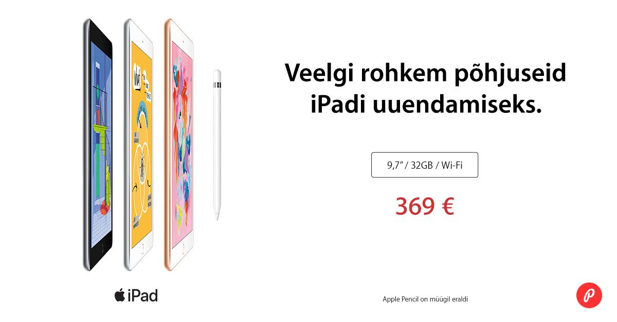 Mine kooli või tööle koos uue Apple iPad (2018) tahvelarvutiga