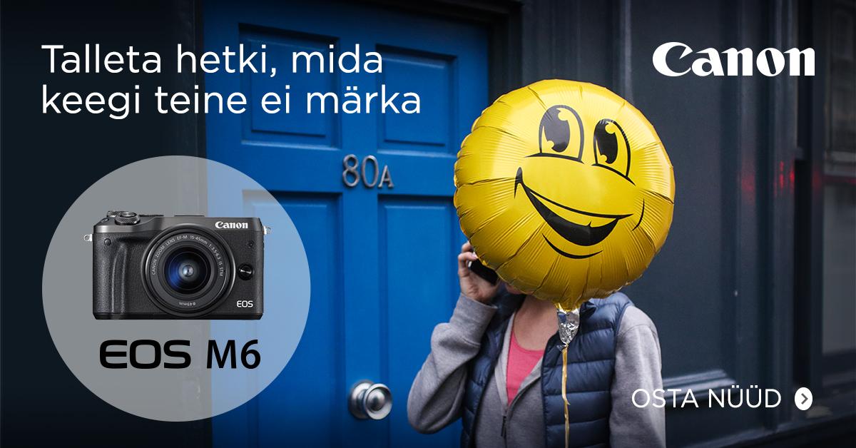 Canon EOS M6 hübriidkaamera soodushinnaga + kingitus 279€ väärtuses