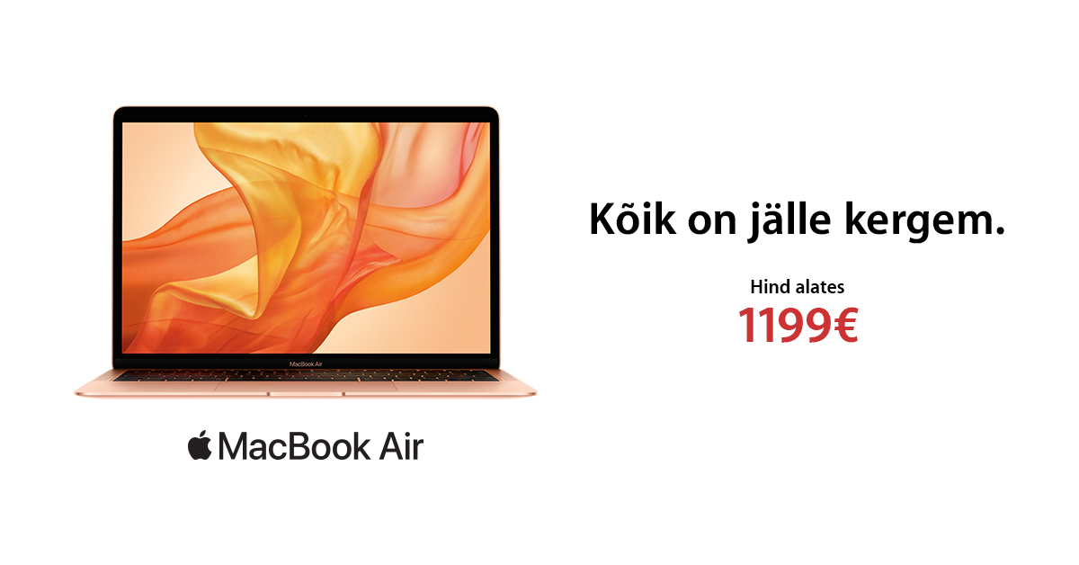 Uus Apple MacBook Air - kõik on jälle kergem