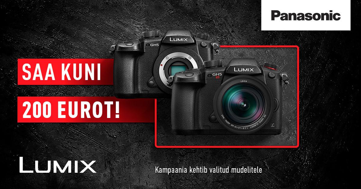 Valitud Panasonic Lumix hübriidkaamera ostul saad kuni 200€ tagasi
