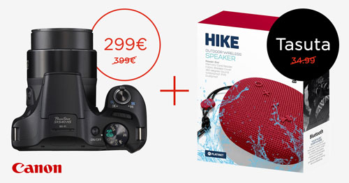 Canon PowerShot SX540 HS reisisuumi ostul kingituseks Bluetooth kõlar