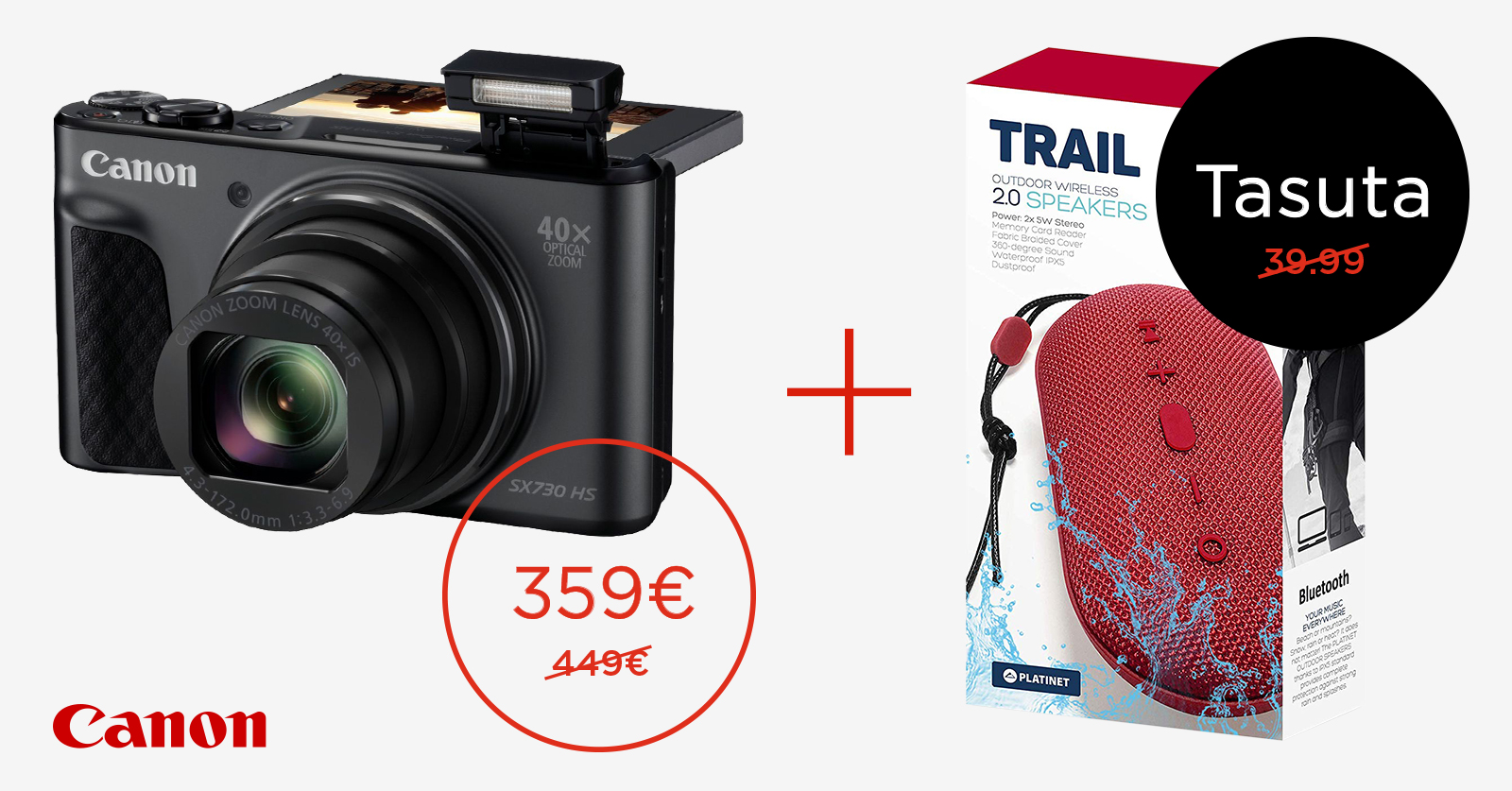 Canon PowerShot SX730 HS reisisuumi ostul kaasa väärt kingitus