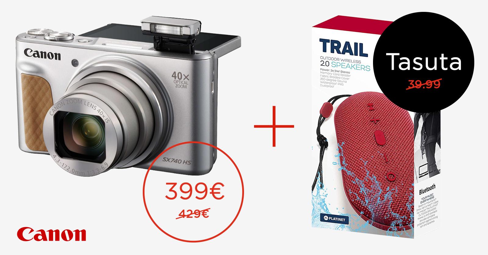 Canon PowerShot SX740 HS 40x reisisuumi ostul saad kingituse