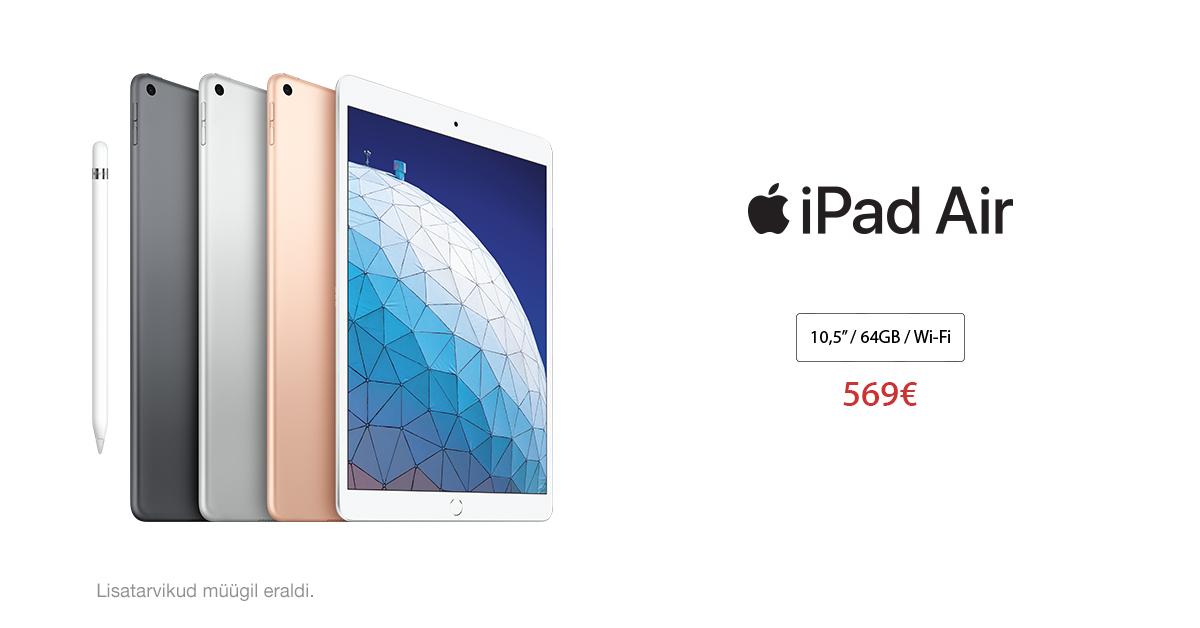 See on kohal - osta uus Apple iPad Air 10,5″