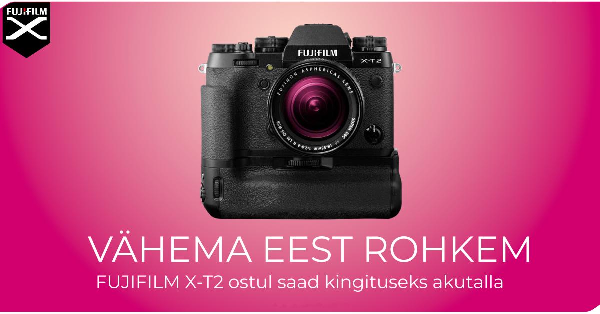 Fujifilm X-T2 hübriidkaamera ostul on Sulle kingituseks akutald