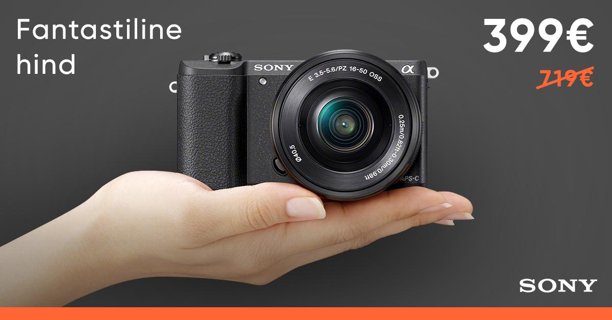Pisike Sony a5100 +16-55mm Kit on hetkel müügil fantastilise soodushinnaga
