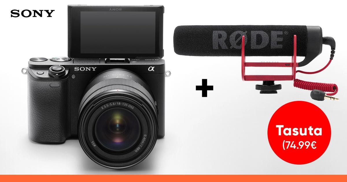 Sony a6400 või a6600 hübriidkaamera ostul saad tipptasemel kingituse