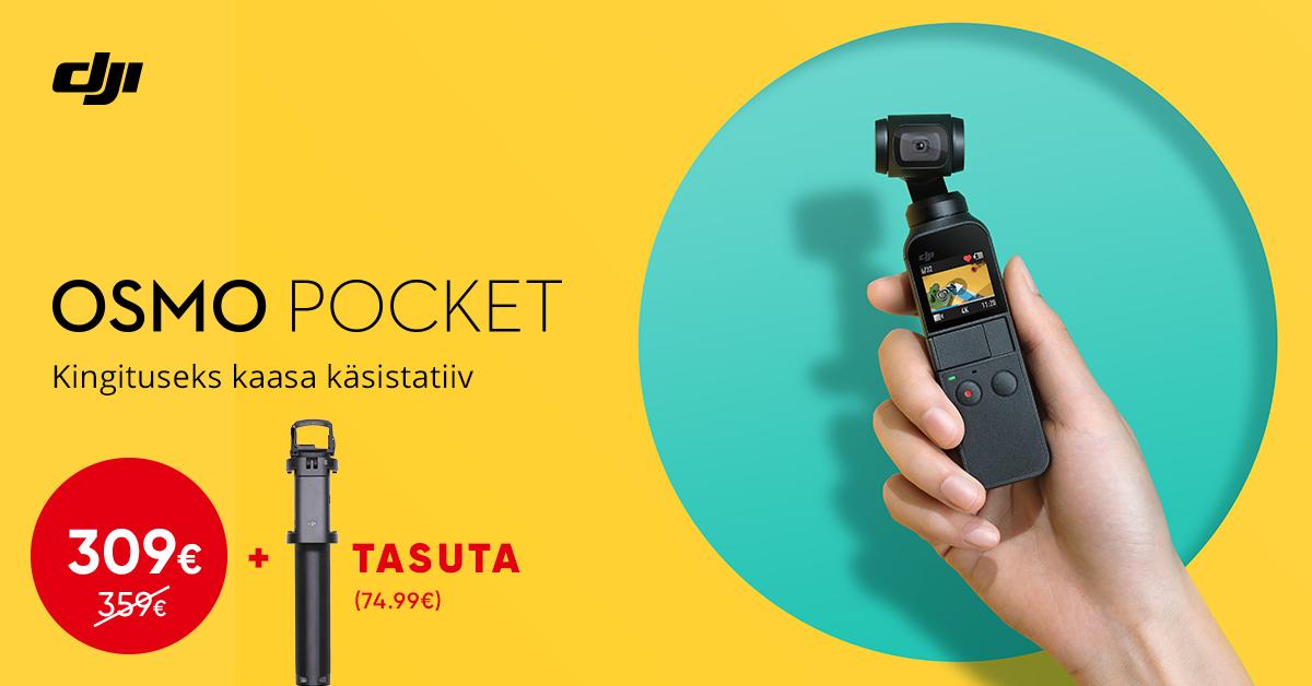 DJI Osmo Pocket kaamera on müügil soodushinnaga + kingitus väärtusega 74,99€