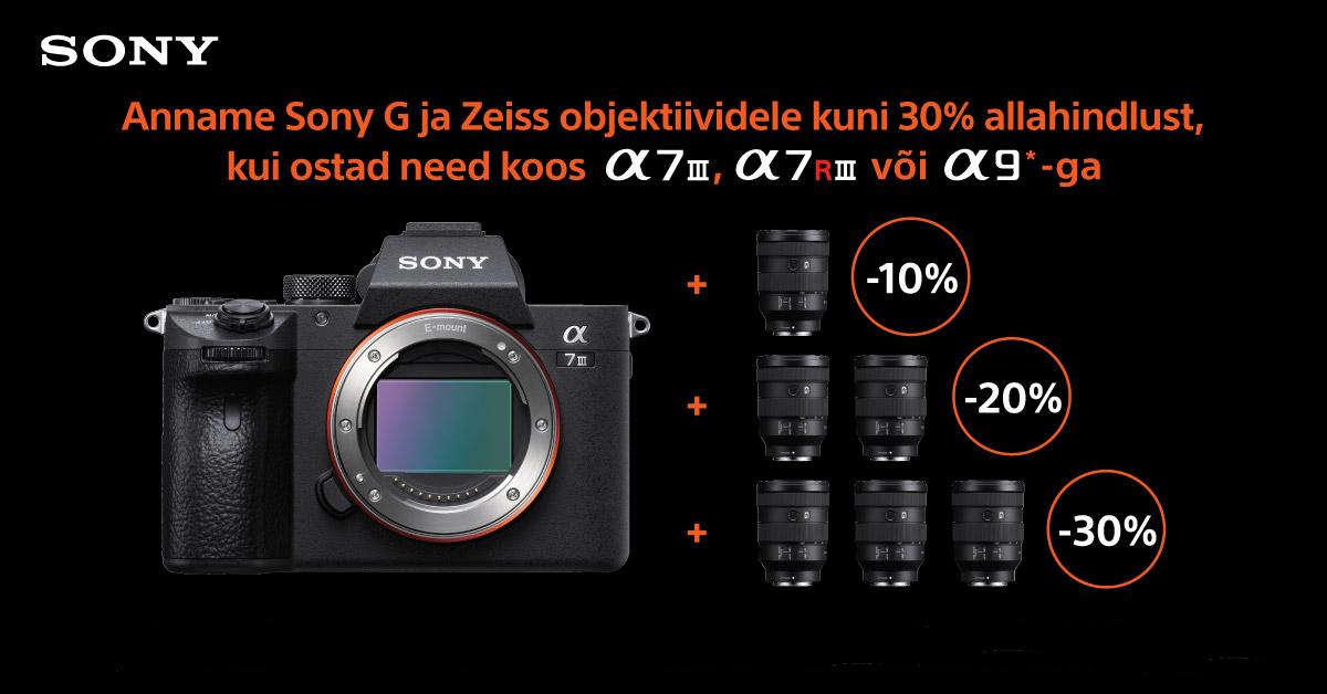 Pane kokku enda unistuste Sony fototehnika komplekt ja saad objektiividelt kuni 30% allahindlust