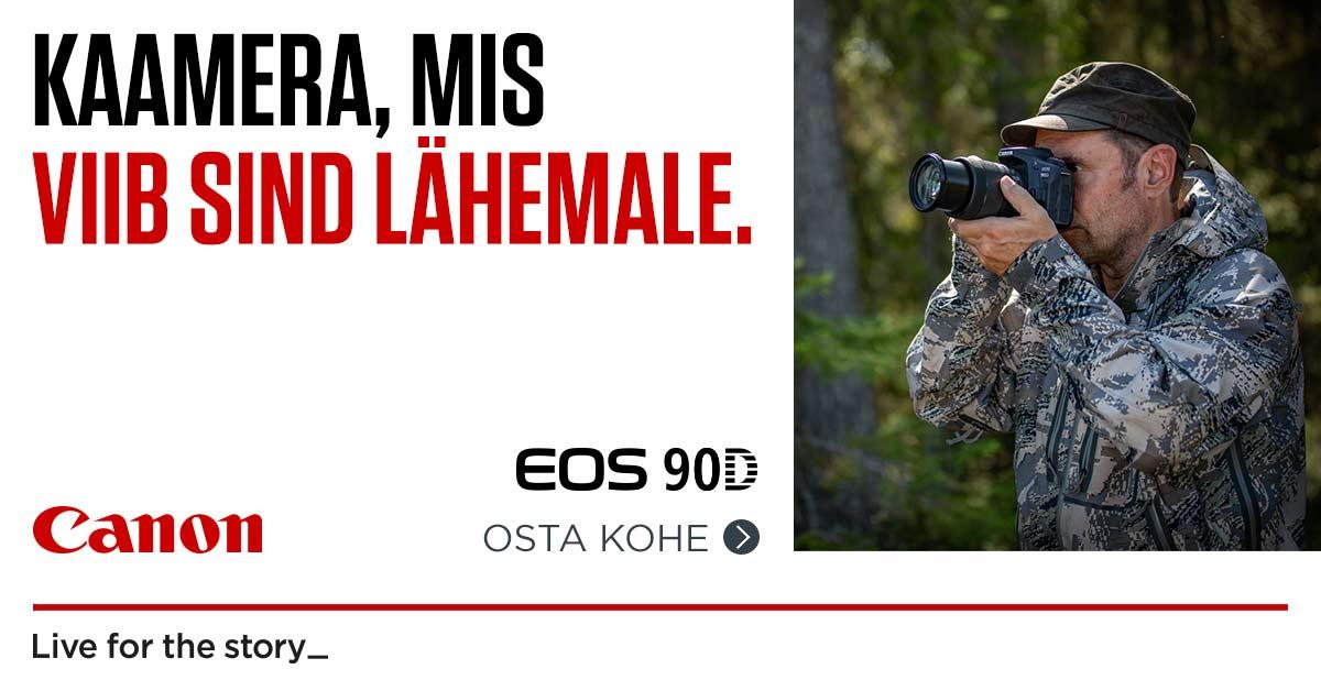 Canon EOS 90D peegelkaamera saad 300-599€ soodsamalt kätte
