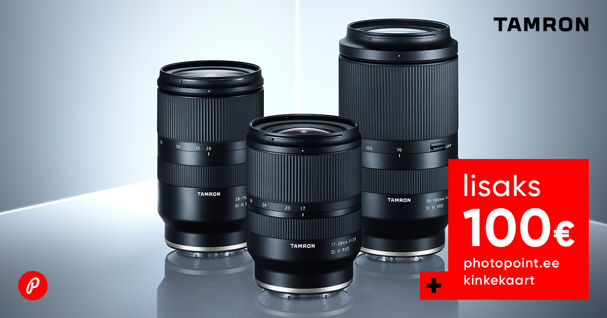 Valitud Tamron objektiividega Sony kaameratele kaasa kingitus