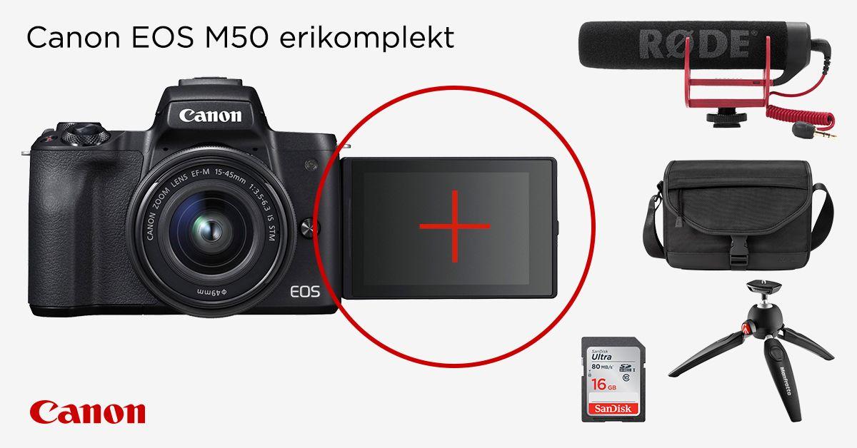 Canon EOS M50 Youtuber Kit on müügil võrratu soodushinnaga