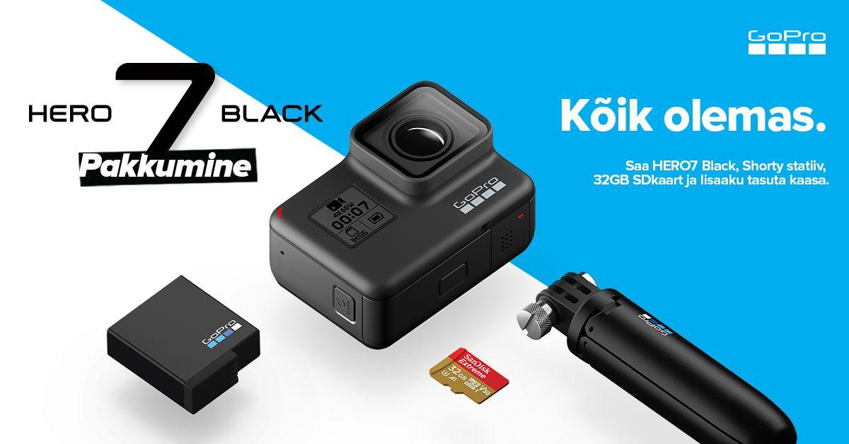 GoPro HERO7 Black erikomplekt on suisa 200€ soodsam