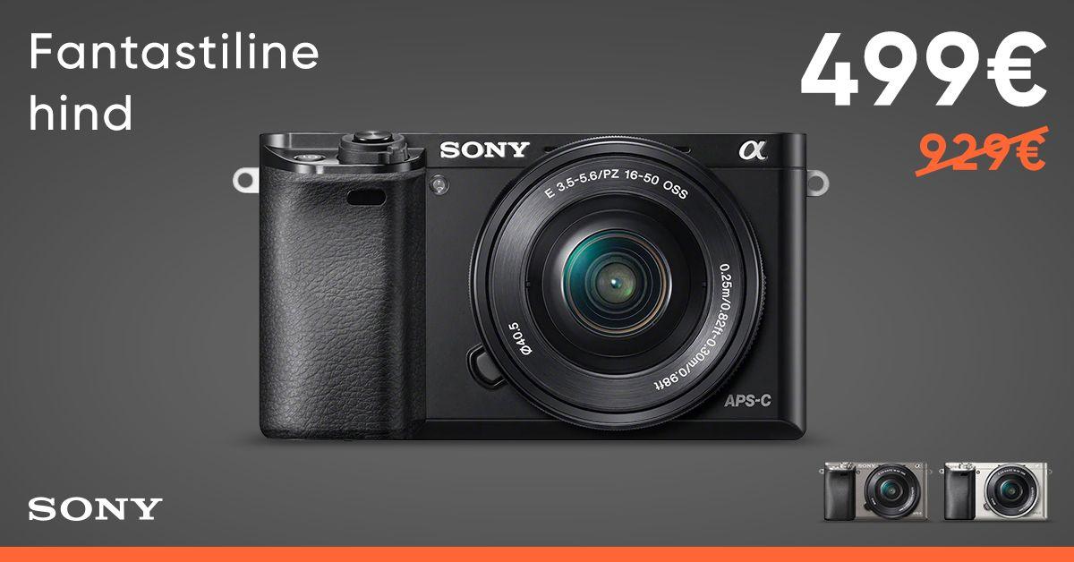 Sony a6000 +16-50mm Kit on müügil fantastilise talvehinnaga