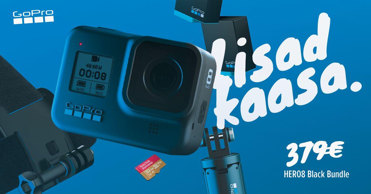 GoPro HERO8 Black erikomplekt on müügil suurepärase soodushinnaga