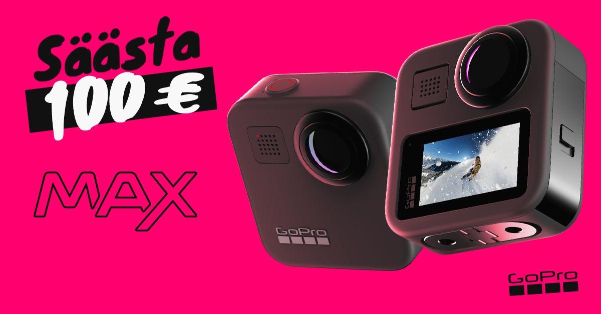 360° vaateid jäädvustav GoPro MAX on lausa 100€ soodsam