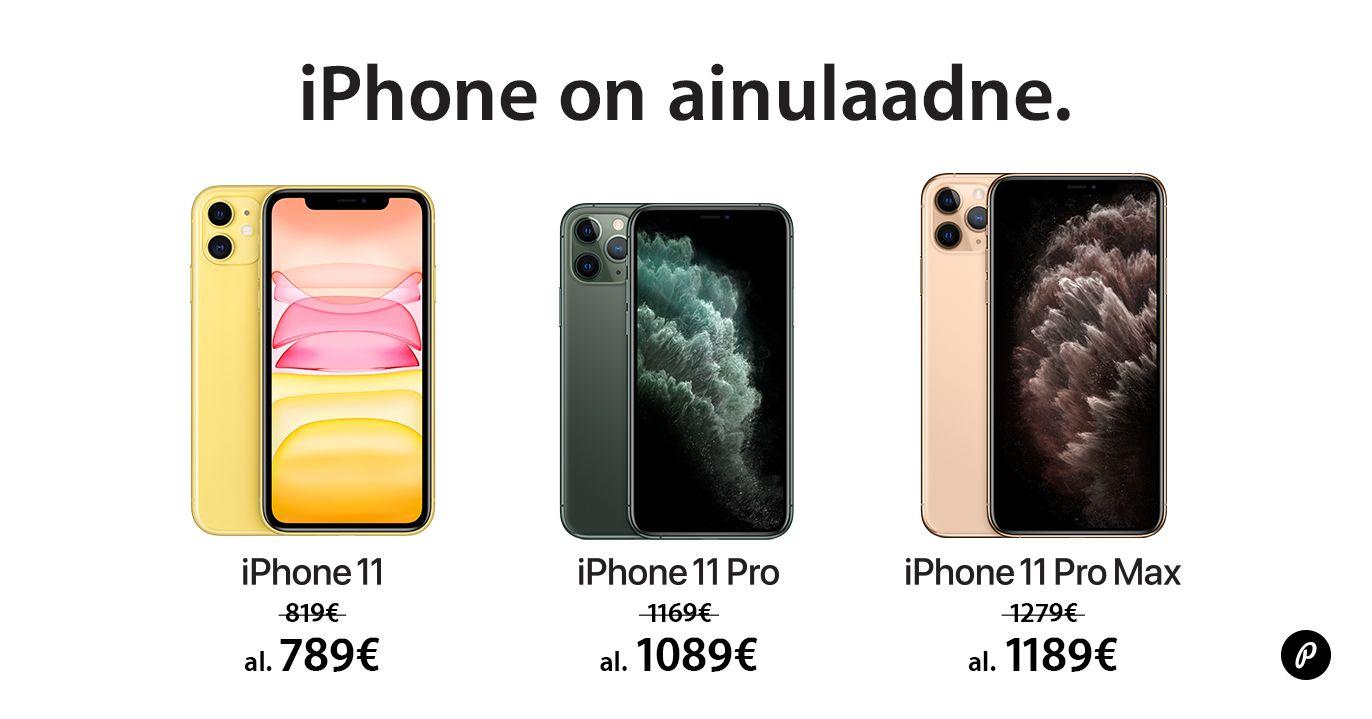 Apple iPhone 11, iPhone 11 Pro ja iPhone Pro Max on suvise soodushinnaga