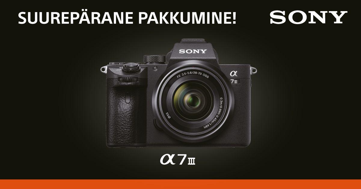 Hitt-hübriidkaamera Sony a7 III on müügil soodushinnaga ja Sonylt kuni 300€ tagasi