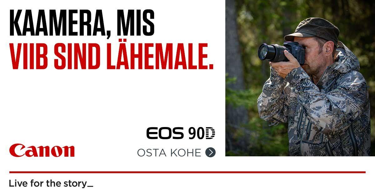 Canon EOS 90D peegelkaamera saad 250-599€ soodsamalt kätte