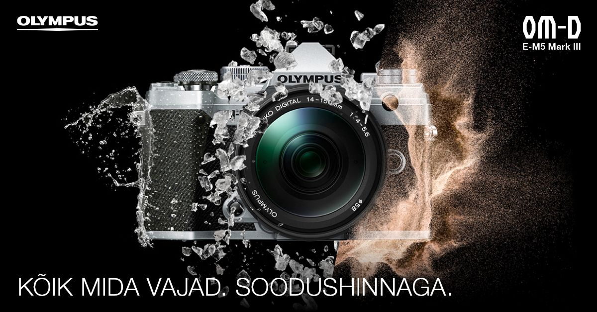 Olympus OM-D E-M5 Mark III on 100-150€ soodsam + kingitus!