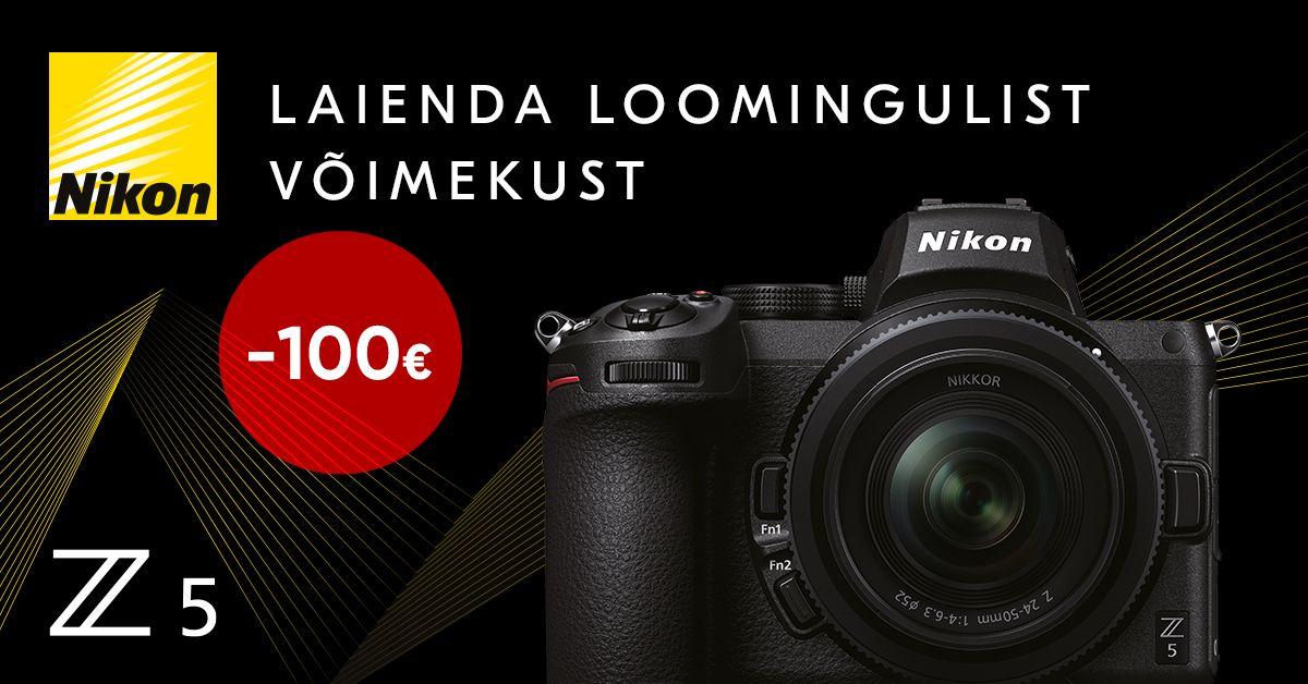 Astu täiskaader kaamerate maailma – Nikon Z 5 on 100€ soodsam