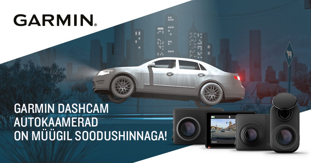 Käimas on valitud Garmin autokaamerate sooduskampaania