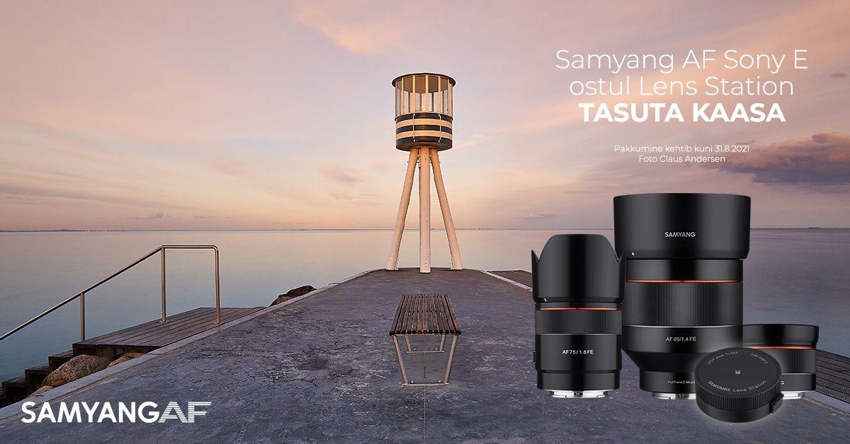 Samyang AF objektiiviga Sony hübriidkaameratele saad kaasa kingituse