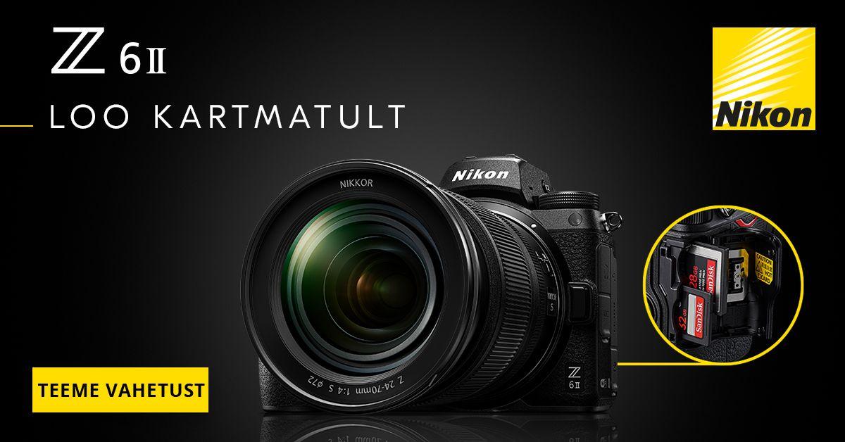 Too meile oma vana digikaamera ja saad uue Nikon Z 6 II 200€ soodsamalt kätte