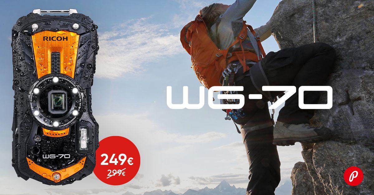 Kõigekindel Ricoh WG-70 kaamera on 50€ soodsam