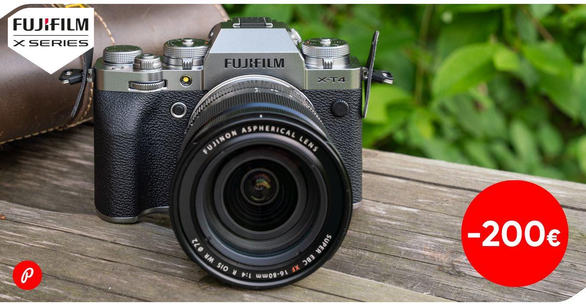 Populaarne Fujifilm X-T4 hübriidkaamera on lausa 200€ soodsam