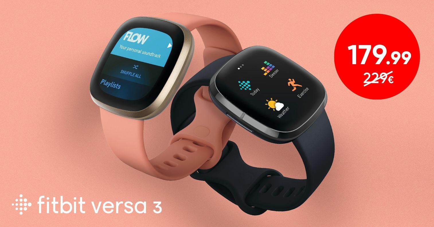 Kaunis Fitbit Versa 3 nutikell on müügil soodushinnaga 179,99€
