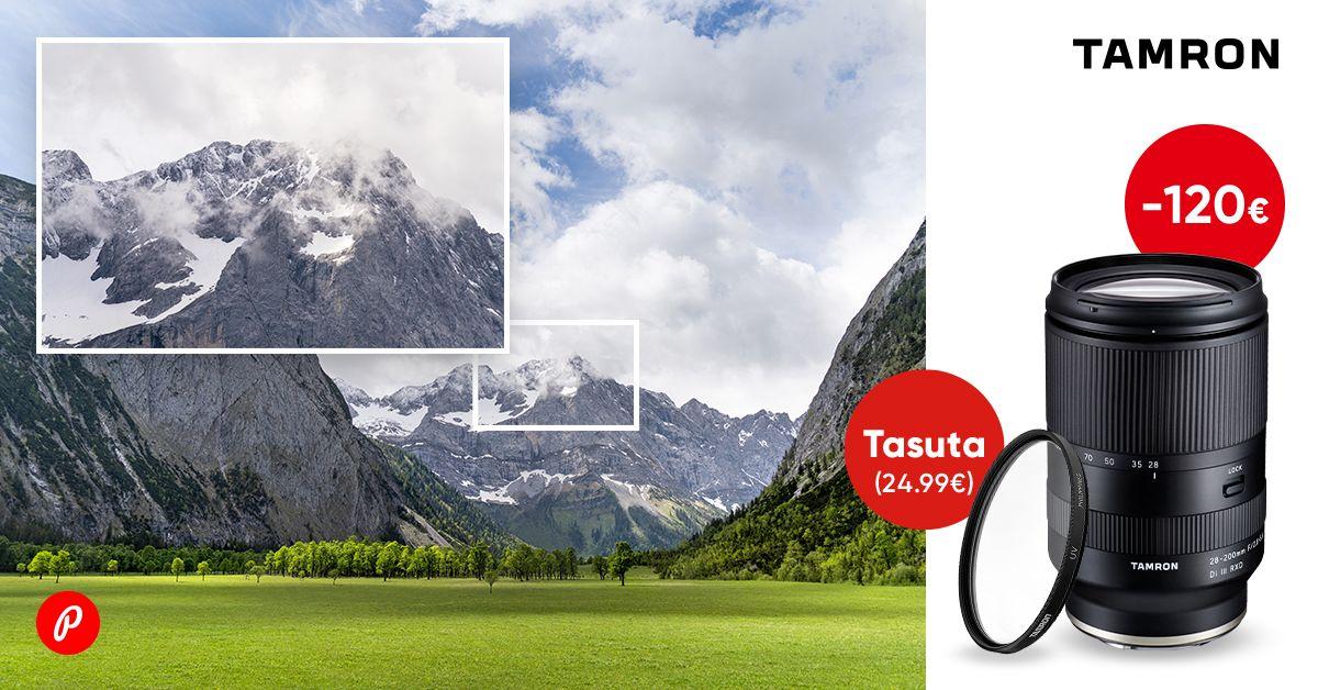 Tamron 28-200mm RXD objektiiv Sonyle on soodushinnaga + kingituseks UV filter