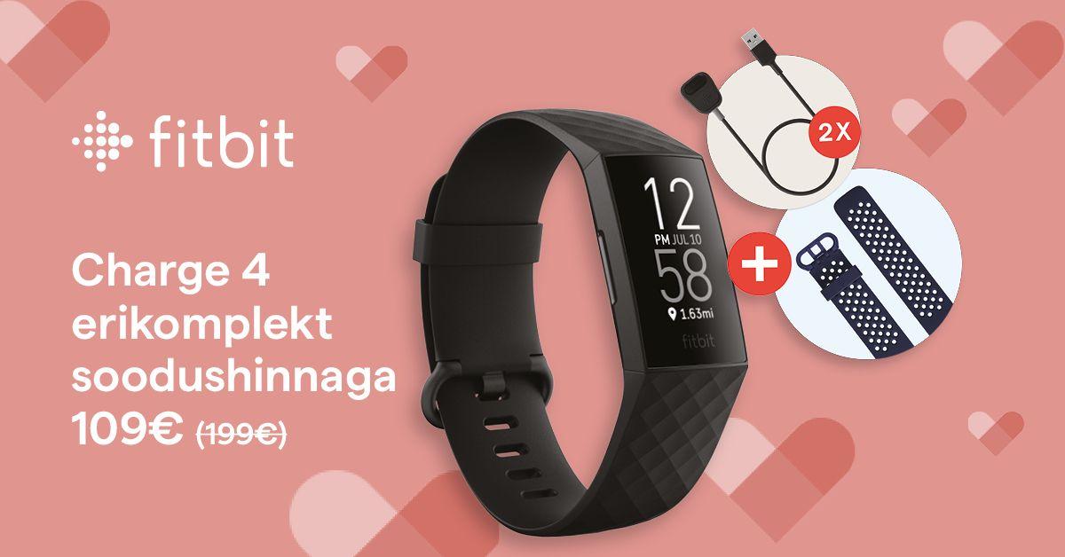 Fitbit Charge 4 erikomplekt on müügil enneolematu soodushinnaga