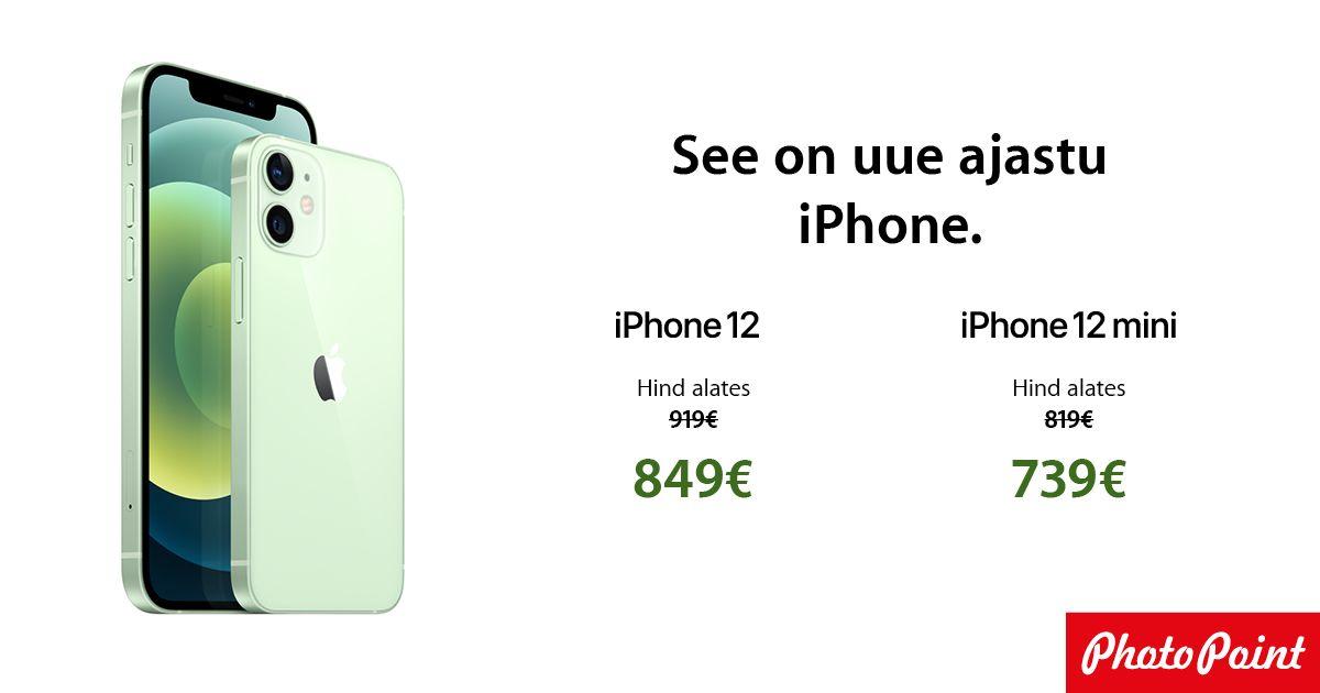 Uue ajastu Apple iPhone 12 ja iPhone 12 mini on müügil soodushinnaga