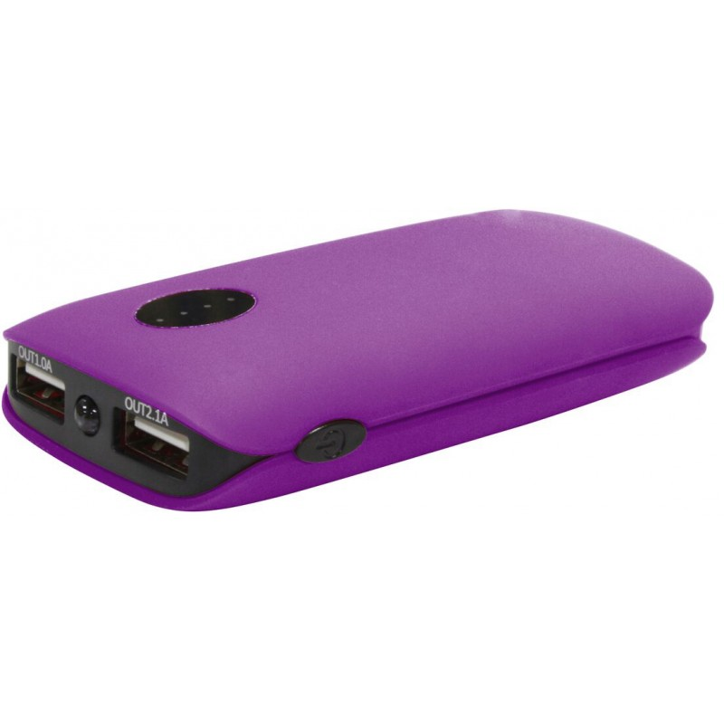 Platinet power bank 5000mAh 2xUSB, violet (42410)