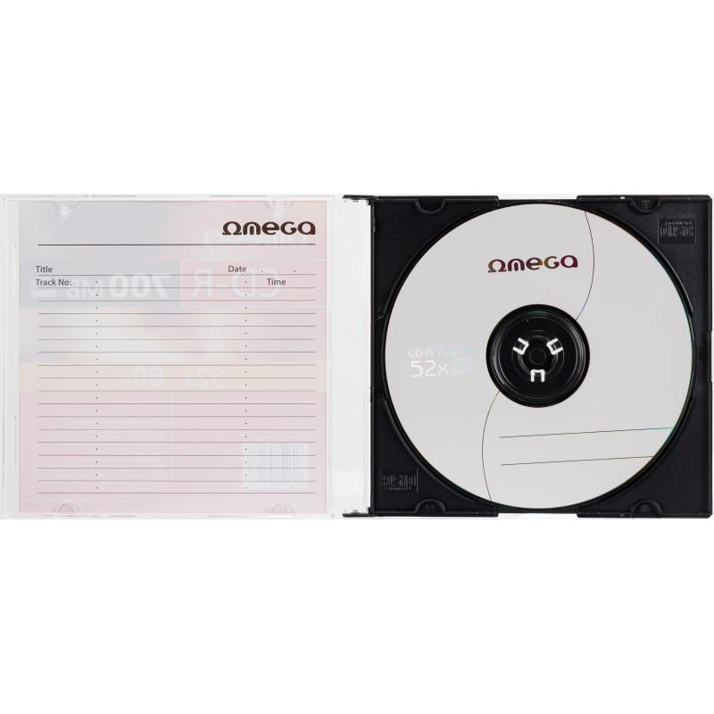 Omega CD-R 700MB 52x slim