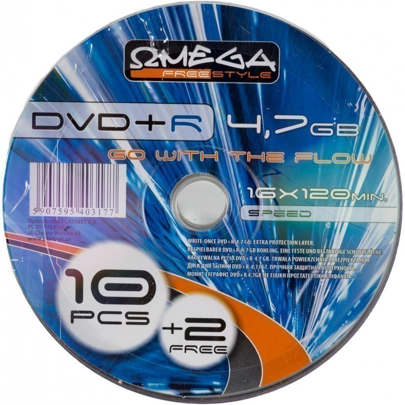 Omega Freestyle DVD+R 4,7GB 16x 10+2gb softpack
