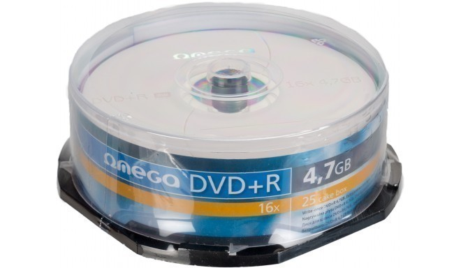 Omega DVD+R 4.7GB 16x 25pcs spindle
