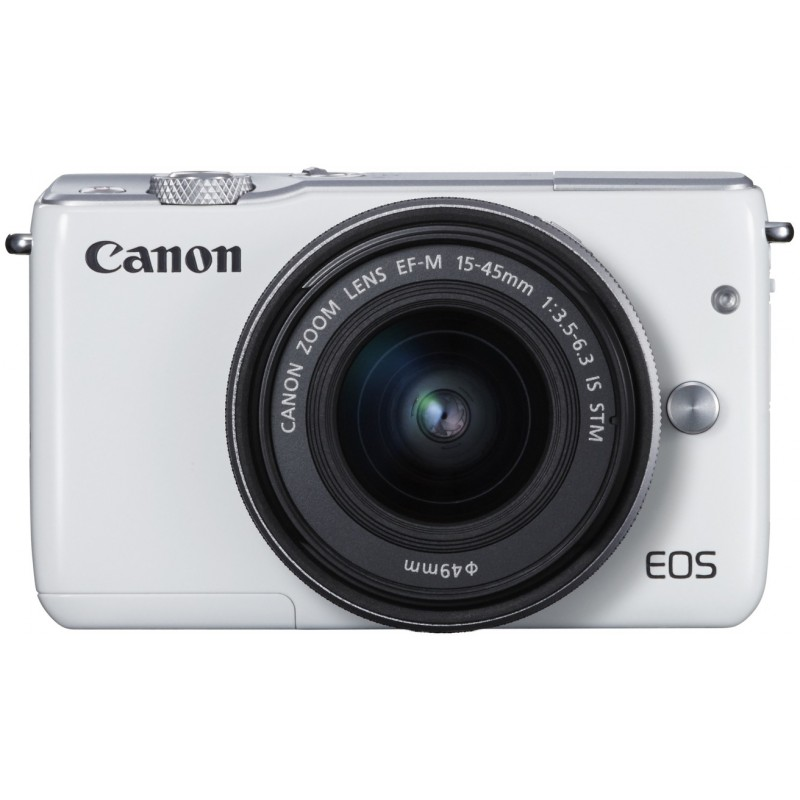 Canon EOS M10 + 15-45мм IS STM Kit, белый