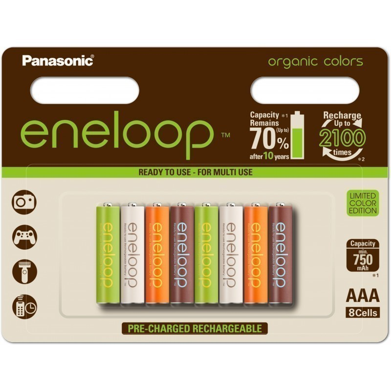 Panasonic eneloop aku AAA 750 8BP Organic