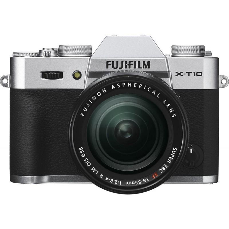 Fujifilm X-T10 + 18-55mm Kit + XC 50-230mm, hõbedane