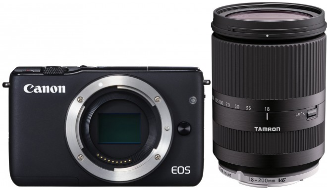 Canon EOS M10 + Tamron 18-200мм VC, черный