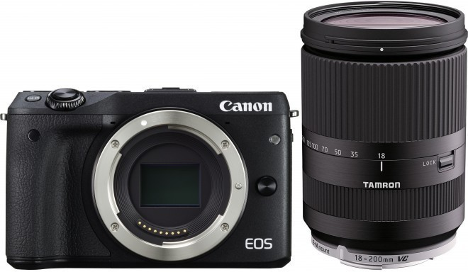 Canon EOS M3 + Tamron 18-200mm VC, must