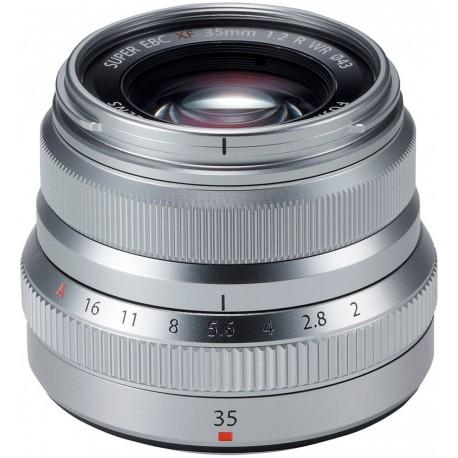 Fujinon XF 35mm f/2 R WR objektiiv, hõbedane