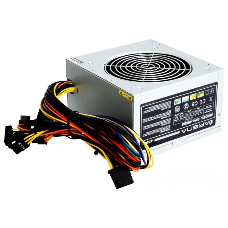 Chieftec ATX PSU IARENA series GPA-450B8, 12cm fan, 450W bulk - PSU ...
